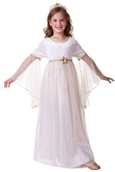 Girls Angel Long Sleeves Costume Heaven Religious Christmas Fancy Dress Outfit